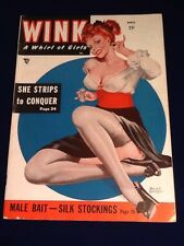 Vintage march 1949 Wink Peter Driben Cover adult mens magazine cheesecake