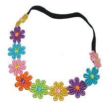 daisy chain head band for festival elasticated