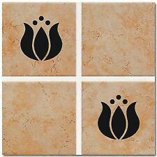 WALL TILE FLOWER DESIGN Tile Transfers Stickers Self Adhesive D.I.Y  Easy Apply