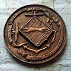 Old French Navy Metal Plaque Tampion Crest : Second-Maitre Le Bihan