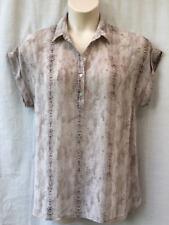 Target Size 16-18 Top Blouse Shirt Cap Slv Animal Print Work Casual FREE POSTAGE
