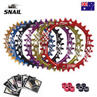 SNAIL 30T MTB Bike Chainring BCD 104mm Narrow Wide Bicycle Chain wheel 6 Colors