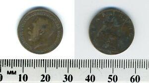 GREAT BRITAIN 1919 -  1 Farthing  Bronze Coin - King George V - Britannia - #1