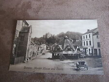 Frith early Somerset postcard - Yarn Market - Dunster - buggy/cart