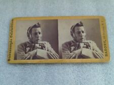 BROADWAY NEW YORK THEATRE STAR SOL SMITH RUSSELL AUTOGRAPHED STEREOVIEW CARD