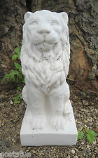 "Latex lion mold 6.5""H x 3""W concrete plaster garden animal mould"