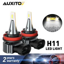 2X AUXITO H11 H8 LED Fog Light DRL Bulb Super Bright 2400LM High Power CANBUS