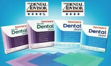 6X6 THIN GREEN Sanctuary Dental Rubber Dam Latex Mint 36/PK