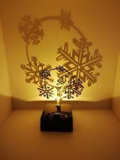LED Tischleuchte Shadow Weihnachten Schneeflocke Form Deko Licht akkubetrieben