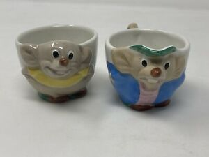 Jaq And Gus Cinderella Creamer Milk Rare Vintage 1950's Walt Disney