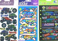 Sticko U Pick ~ Big Trucks ~ Race Cars ~ Racing ~ scrapbooking stickers
