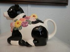 "1996 Ceramic Cow Tea Pot, ""Sweet Bessie Bouquet""Made in China"