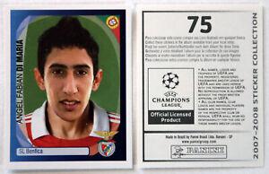 Panini Rookie Sticker Card Angel Di Maria No. 75 Champions League 2007/2008