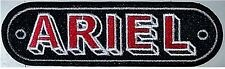 Ariel red/black landscape embroidered sew on cloth patch (yy)