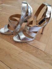 Mango High Heels silber glänzend 39 UK 6 neu