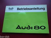 AUDI 80 ab 1975 Betriebsanleitung Handbuch Bedienungsanleitung Wartungshinweise
