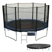6 8 10 12 14 16 FT Foot  XL Large Trampoline, Net/Enclosure, Rain Cover + Ladder