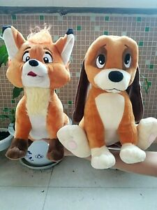 Disney The Fox and the Hound Copper Dog Todd plush toy Gift 2pcs