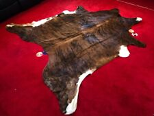 NEW LARGE 100% COWHIDE LEATHER RUGS TRICOLOR COW HIDE SKIN CARPET AREA