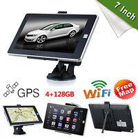 "7"" inch Portable HD 4G Car GPS Navigator System Sat Navi FM w/ US EU AU Free Map"