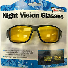 Streetwize Unisex Night Vision Car Driving Glasses - Brand New UK - Freepost