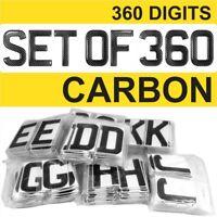 3d Gel CARBON Number Plates Domed Resin Making REG DIGITS Starter Set Kit x360