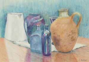 Audrey Reddy - Contemporary Coloured Pencil, Still Life, Bottles and Jars