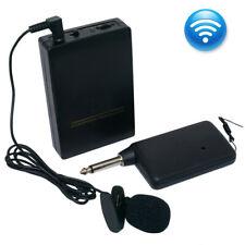 Mini Wireless Cordless Clip-on Lapel Tie Microphone Mic Transmitter Set