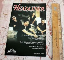 U2, Headliner mini Program/Playbill 2001, Msg, Bono, Black Crowes, Oasis, Yoko