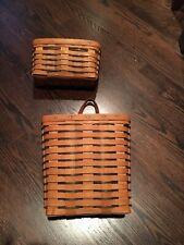 Longaberger Basket pair/lot - Hanging