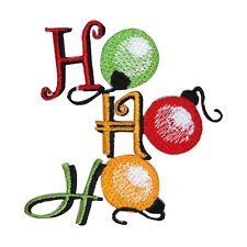 "ID 8176B ""Ho Ho Ho"" Christmas Tree Ornaments Embroidered Iron On Applique Patch"