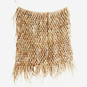 Large Woven Palm Leaf Wall Hanging 120x150cm Rustic Boho Tropical Jute String