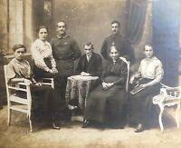 ORIGINAL - (JUMBO) WW1 GERMAN ARMY CABINET CARD FRAMED PHOTOGRAPH c1916