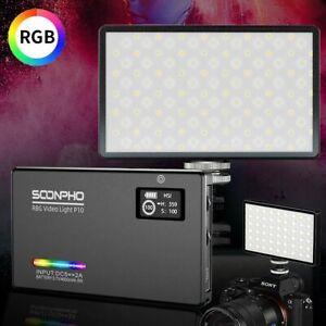 SOONPHO RGB LED Kamera Videolicht Videoleuchte Fotolampe dimmbar 2500K-8500K DHL