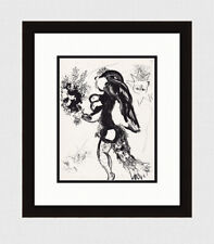 """ORIGINAL 1960 Marc Chagall Lithograph M291 """"The Offering""""  FRAMED Limited COA"""
