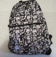 Disney Star Wars Bioworld Small Backpack Stormtroopers Darth Vader Black White