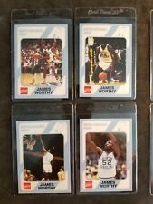 James Worthy UNC lot (4) 1989-1990 1st edition Chapel Hill Basketball cards