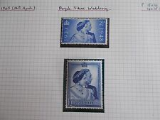 1948 GVI Silver Wedding Set of 2 SG493-4 in Superb U/M Condition Cat £40
