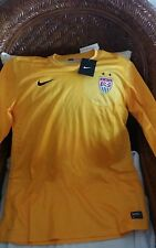 USA Nike World Cup Soccer  goalkeeper Jersey yellow size L womens