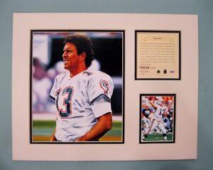 Miami Dolphins Dan Marino 1995 NFL Football 11x14 MATTED Kelly Russell Print