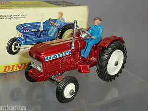 """DINKY TOYS MODEL No 308  LEYLAND TRACTOR    """" RARE RED METALLIC VERSION""""  VN MIB"""