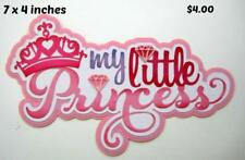 My Little Princess Title girl scrapbook premade paper piecing by Rhonda