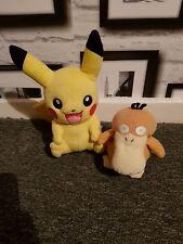 Pikatu And Psyduck pokemon soft plush  bears by TOMY