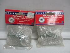United States Hardware D-140B Mobile Home Rosette Buttons 24 per bag (Lot of 2)