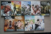 Attack on Titan 1, 4, 10-11, 13, Before the Fall 1, 4, Lot of 9 Shonen Manga