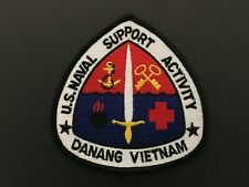 Us Naval Support Activity Danang Vietnam Patch Measures 4 Tall X 4 Wide Inches