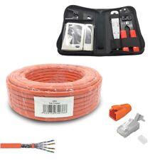 Cat7 cable de red 100 m permite la herramienta set 10 Rj45 enchufe cable cat ARLI