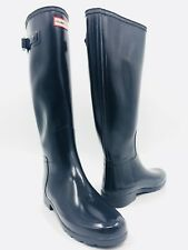 Hunter Original Refined Dark Blue Rubber Rain Boots Size 9