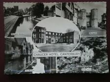 POSTCARD RP KENT CANTERBURY - CHAUCER HOTEL MULTI VIEW