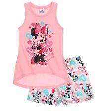 Pyjamas roses manches courtes pour fille de 2 à 16 ans en 100% coton